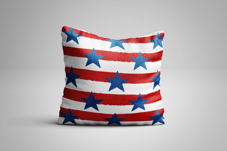 Stars and Stripes Cushion. 12 x 12 inch Cushion by NJsBoutiqueCo on Etsy