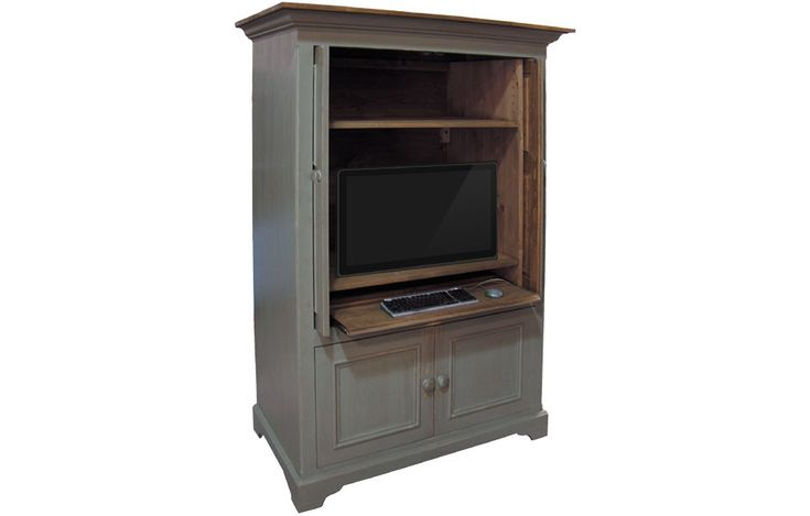 1000 ideas about computer armoire on pinterest armoires desks and secretary desks. Black Bedroom Furniture Sets. Home Design Ideas
