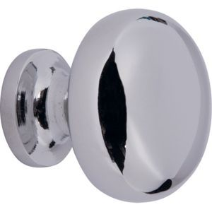 Round Door Knob - Polished Chrome - 30mm