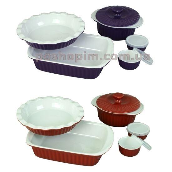 Кухонная посуда Набор керамической посуды Kamille для запекания 8 предметов