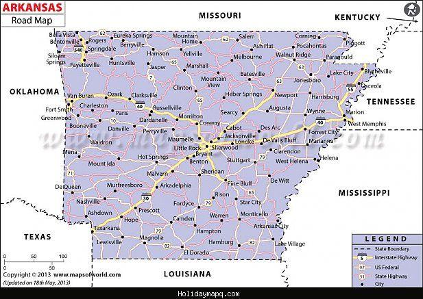 Map Of Arkansas City Http Holidaymapq Com Map Of