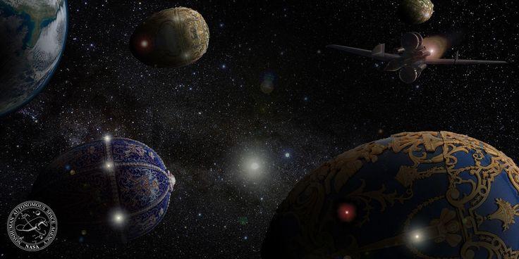 Fabergé Rocks in Geostationary Orbit - the Nonhuman Autonomous Space Agency