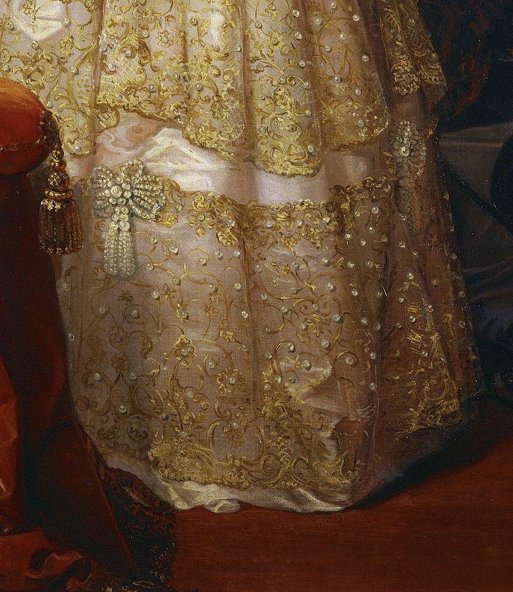 """Isabella II, Queen of Spain"" (1848) (detail) by Federico de Madrazo y Kuntz (1815-1894)."