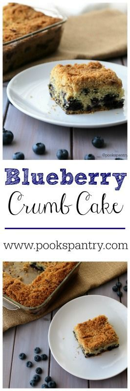 Buttery Blueberry Crumb Cake.  Seriously, one the BEST crumb cakes I've ever had.  Delicious crumb topping!