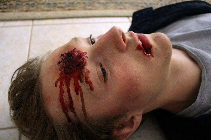 Gunshot wound from original short film Compulsion || by Ashleigh Hunter
