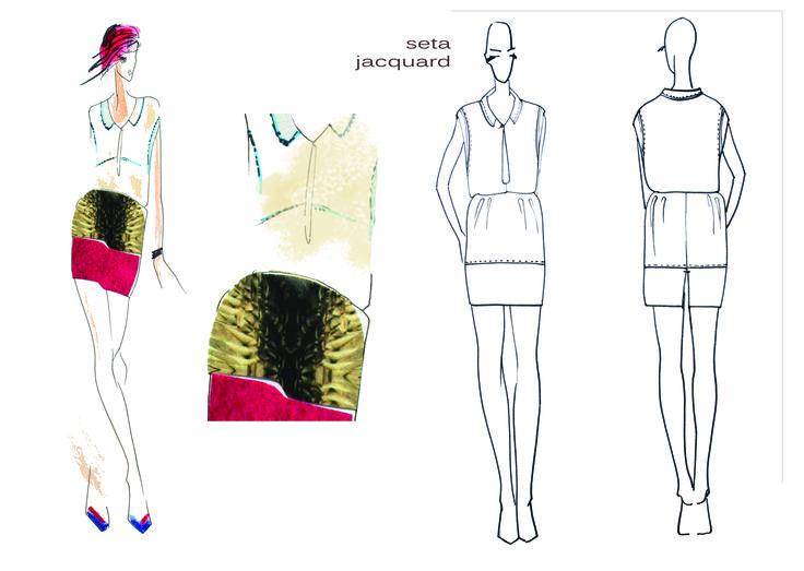 Technical  design Silk dress