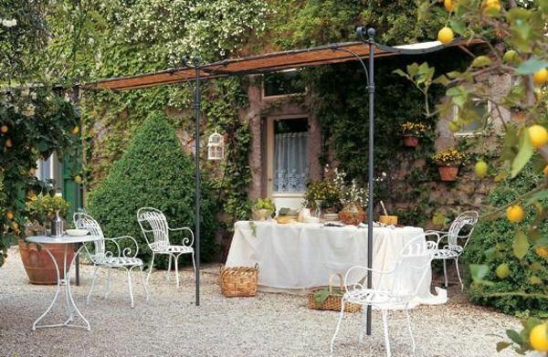 gartenmöbel terrasse bauen überdachung
