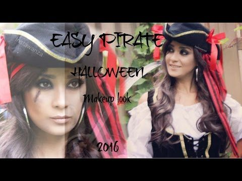 Pirate Makeup Tutorial | Halloween 2016 | Monika Zamudio - YouTube