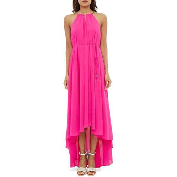 3777ade2d7692 Ted Baker Chain-Detail Maxi Dress ( 365) ❤ liked on Polyvore featuring  dresses