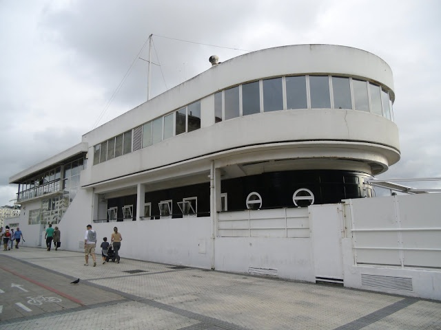 The Royal Sailing Club of San Sebastian is a Rationalist-style building