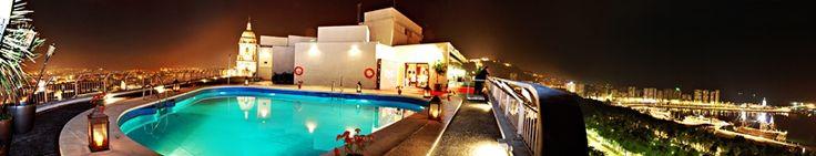 Panorámica Terraza AC Hotel Malaga Palacio by Marriott