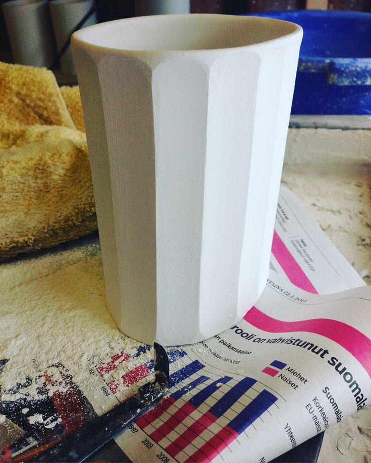 Handmade porcelain lantern made by Saara Paatero-Burtsov