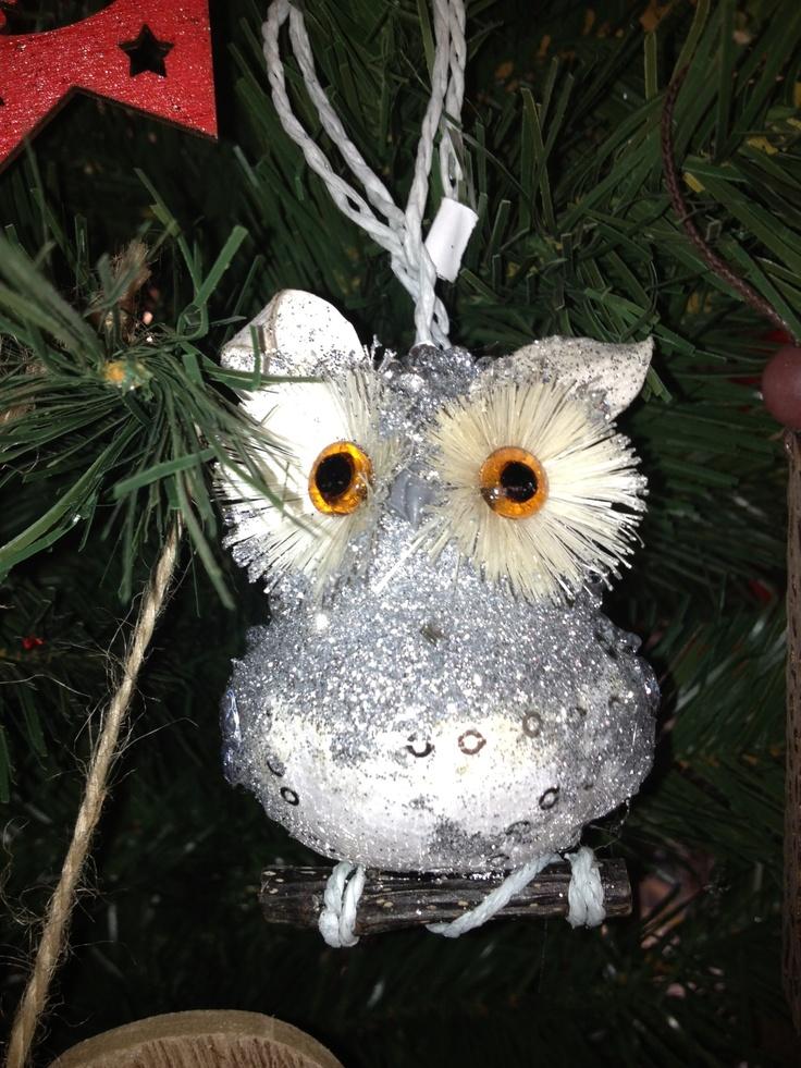Beaded Glitter Owl Xmas Tree Deco $8.45