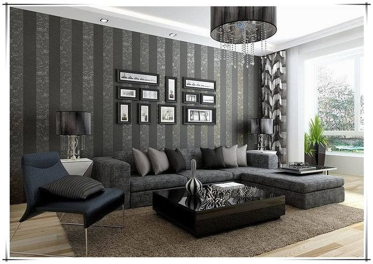 41 best paredes en gris images on pinterest bedroom for Decoracion de paredes para salas