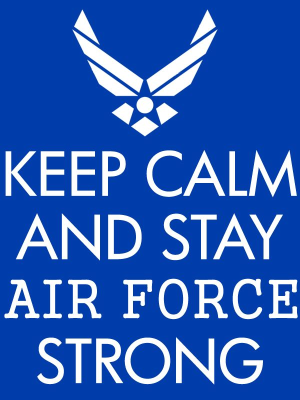 Free Air Force Keep Calm poster printable