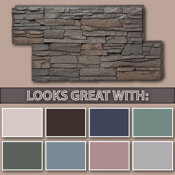 Faux Stacked Stone Interior Walls