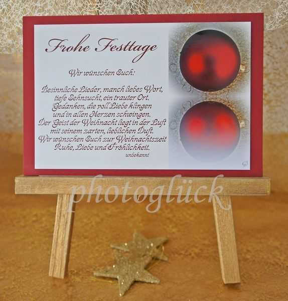Weihnachten - Karte Weihnachten Weihnachtskarte 28 - ein Designerstück von Gabriele-Jentsch bei DaWanda