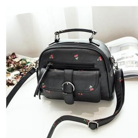 [EBay] Tinkin Scrub Women Bag Fashion Shoulder Bag Casual Simple Tote Fresh Cherry Female Messenger Bag Matte Leather Female Handbag