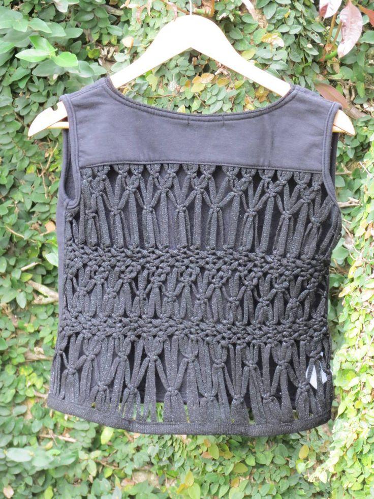 cropped macramÊ - blusas dress to
