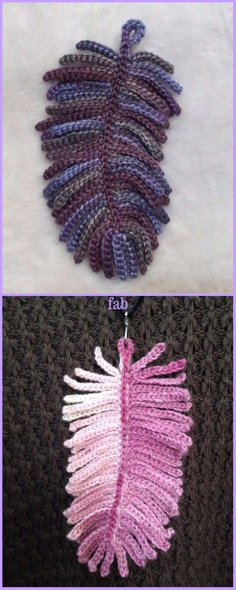 Crochet Feather Necklace Free Pattern Diyour