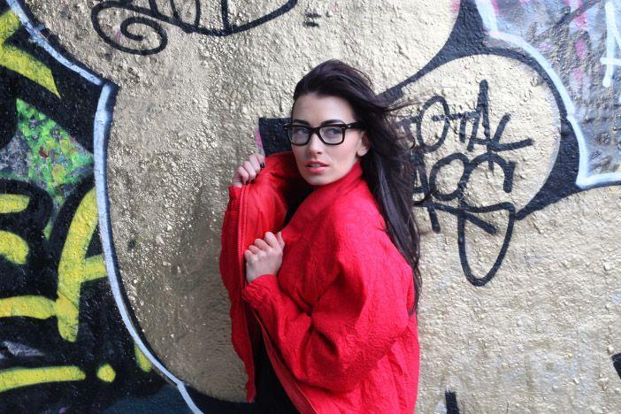 The Amazing talent Jessica Agombar #bambam #eastlondo #fashion #shoot #streetphotography #glasses #jacket