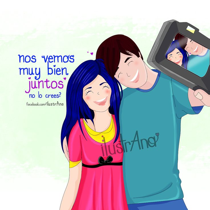 #amor #ilustrana #pareja #ideal #dibujo #ilustración #love #illustration #couple #draw #god #enamorarse #sonríe #reír #usie #selfie #juntos #camera #foto #photo #camara #fotografia
