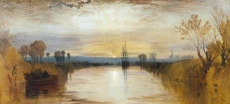 William Turner, CANALE DI CHICHESTER, 1828, colore ad olio, Tate Collection