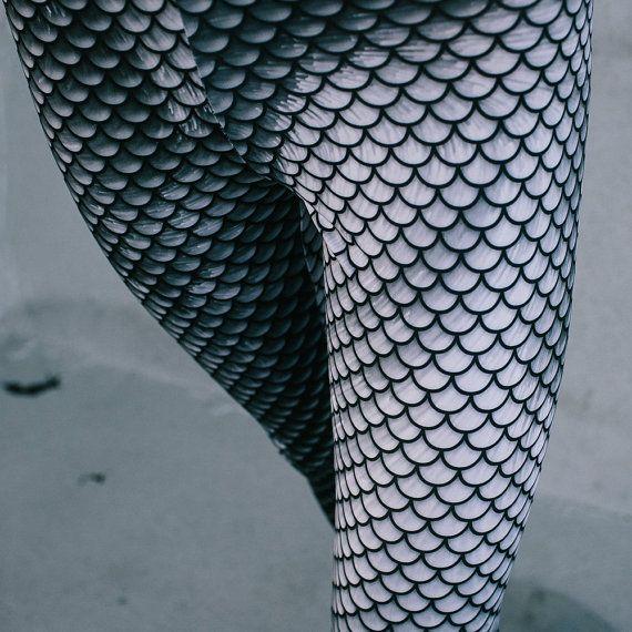 Leggings / Mermaid leggings / Yoga leggings / Art tights / Stretch pants / Custom design