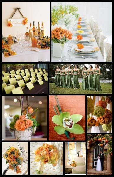 Inspiration 62:  Apparently I Love Food Colors!  | sage and orange wedding