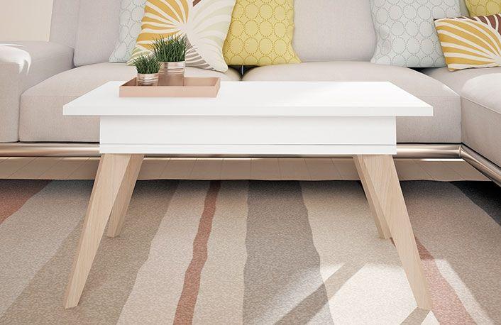 Compra ya esta centro elevable estilo nórdico con patas cónicas al mejor precio. Más ofertas en muebles de diseño en la tienda de muebles online mueblesboom.com
