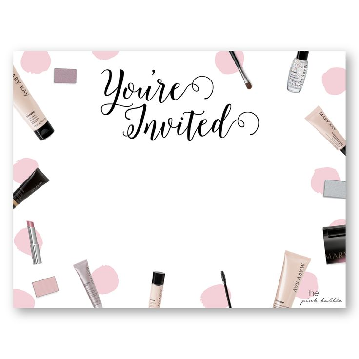 Mary kay party invitations to create dreams party invitation with chic layout 10