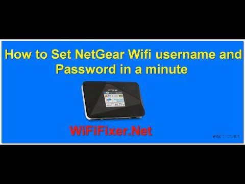 How to set Netgear Wireless Wifi Username and Password in a Minute | WifiFixer- Fix Your Router Problem