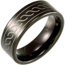 Dura Tungsten Band with Black Immerse Plating
