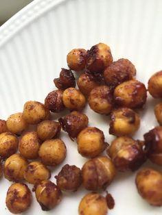 Geroosterde kikkererwten – gezonde zoete snack