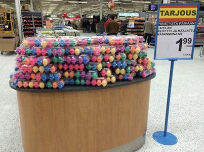 Kupittaan Citymarket - värjätty, keitetty, syötävä suomalainen kananmuna