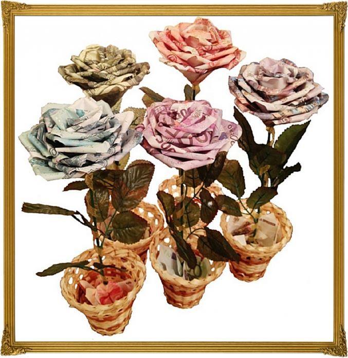 Цветы из купюр в Санкт-Петербурге (Цветы из ткани) - Сувенирная лавка, ООО на Bizorg.su