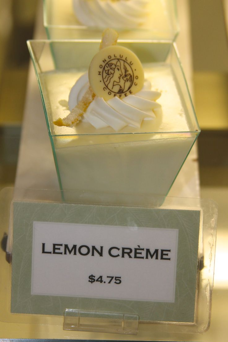 Lemon Créme from our Ala Moana store, hand-crafted at the pastry kitchen in Honolulu, Hawaii.