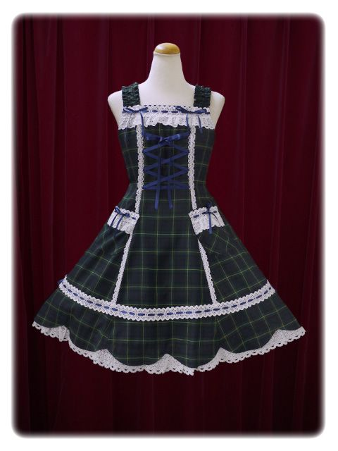 Baby, the stars shine bright Tartan check scallop jumper skirt