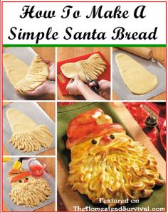 How To Make A Simple Jolly Santa Bread