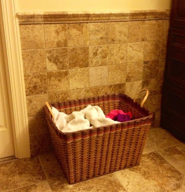 Small open clothes hamper--If you want a basket that is big enough to collect your dirty clothes in your bathroom, but also not too big, because you need to carry it to the laundry room, then this one is for you! Sometimes opening and closing a lid can be bothersome! Made in the USA!
