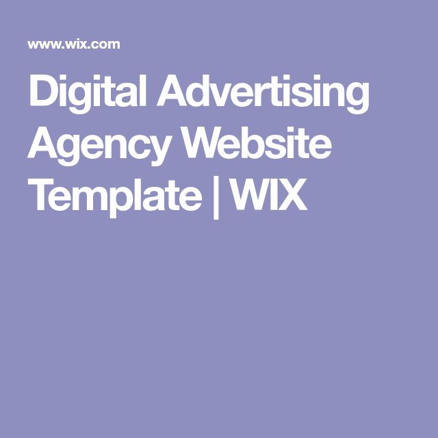 Digital Advertising Agency Website Template | WIX