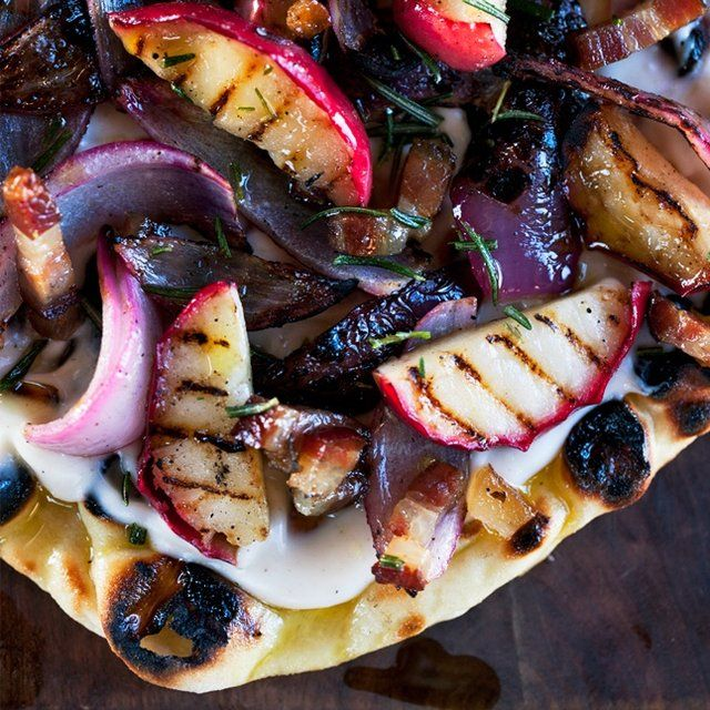 Grilled Flatbreads with Apples, Bacon, and Onion: Recipe: bonappetit ...