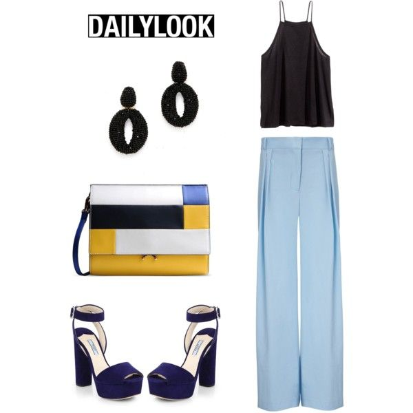 Daily Look by alcalams on Polyvore featuring moda, H&M, Michael Lo Sordo, Prada, Marni and Oscar de la Renta