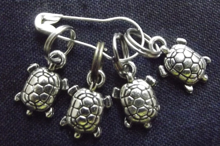 Turtle/tortoise shaped stitch markers