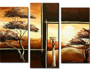 Quadro Mulher Africana Entardecer Cuadro, painting