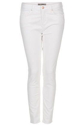 MOTO White Baxter Skinny Jeans