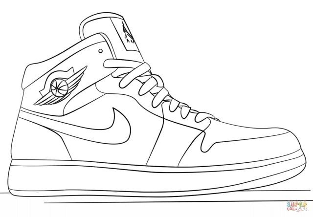 27 Great Photo Of Nike Coloring Pages Sneakers Drawing