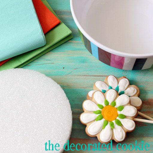 how to make a cookie arrangement - The Decorated CookieThe Decorated Cookie