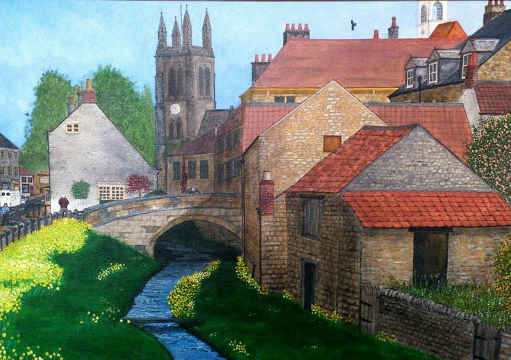 Helmsley, N. Yorkshire. Acrylic on canvas by Norman Sumpton.