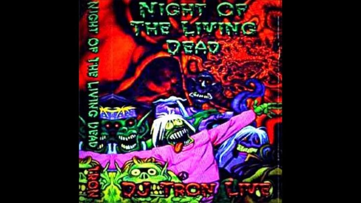 Dj Tron night of the living dead - Rare hardcore gabber cassette mix tape